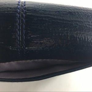 Coach Bags - Coach blue patent leather bifold wallet